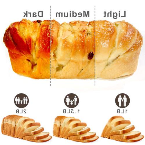 Automatic Bread 2.2lbs With Display & Top Window