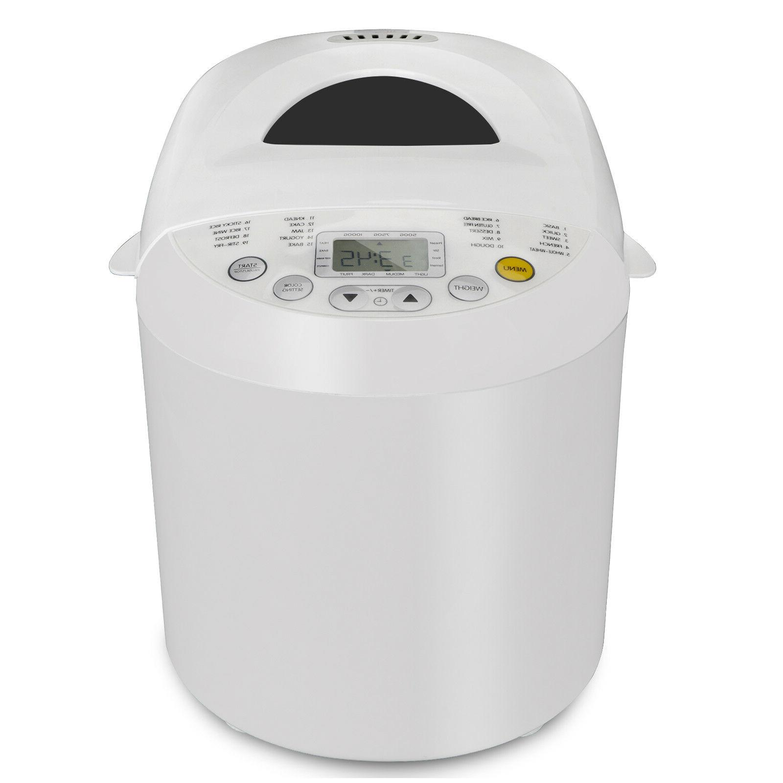 automatic bread maker machine 2 2lbs 550w
