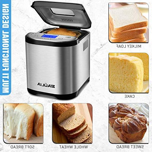 Baulia Bread Maker Machine - Bread Types Stainless Perfect Bake Technology Up to Baked of –