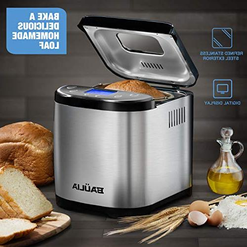 Baulia Automatic Bread Machine Programmable Bread Stainless – Bake Technology Up Baked Loaf Bread –
