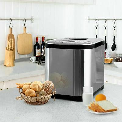 2 LB Automatic Breakfast Bread Maker Stainless Steel