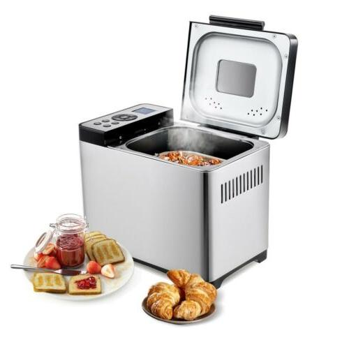 650W Automatic Stainless Steel Bread Maker 2Lb Programmable