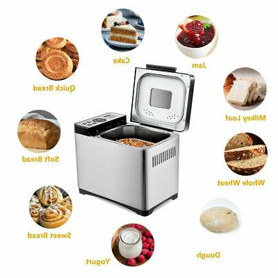 2 lb automatic stainless steel bread maker