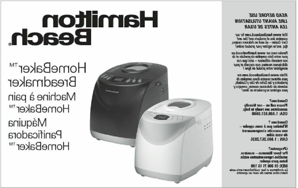 bread machine manual 29880 29881 29882 29882c