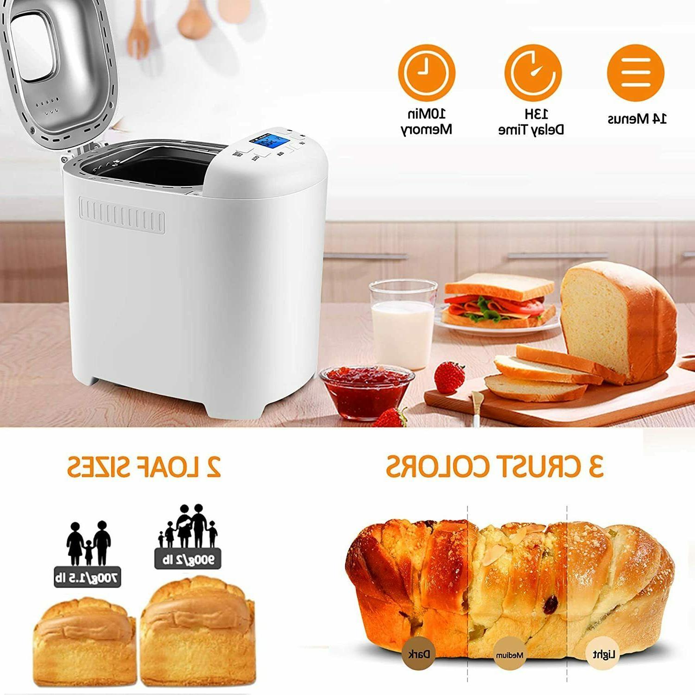 Bread Machine 2LB 14-in-1 Bread MakerNonstick Stainless Stee