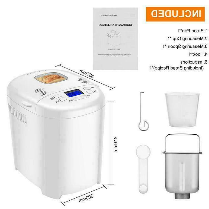 AOLIER Bread Machine 14-in-1 Home Bread with Stainless