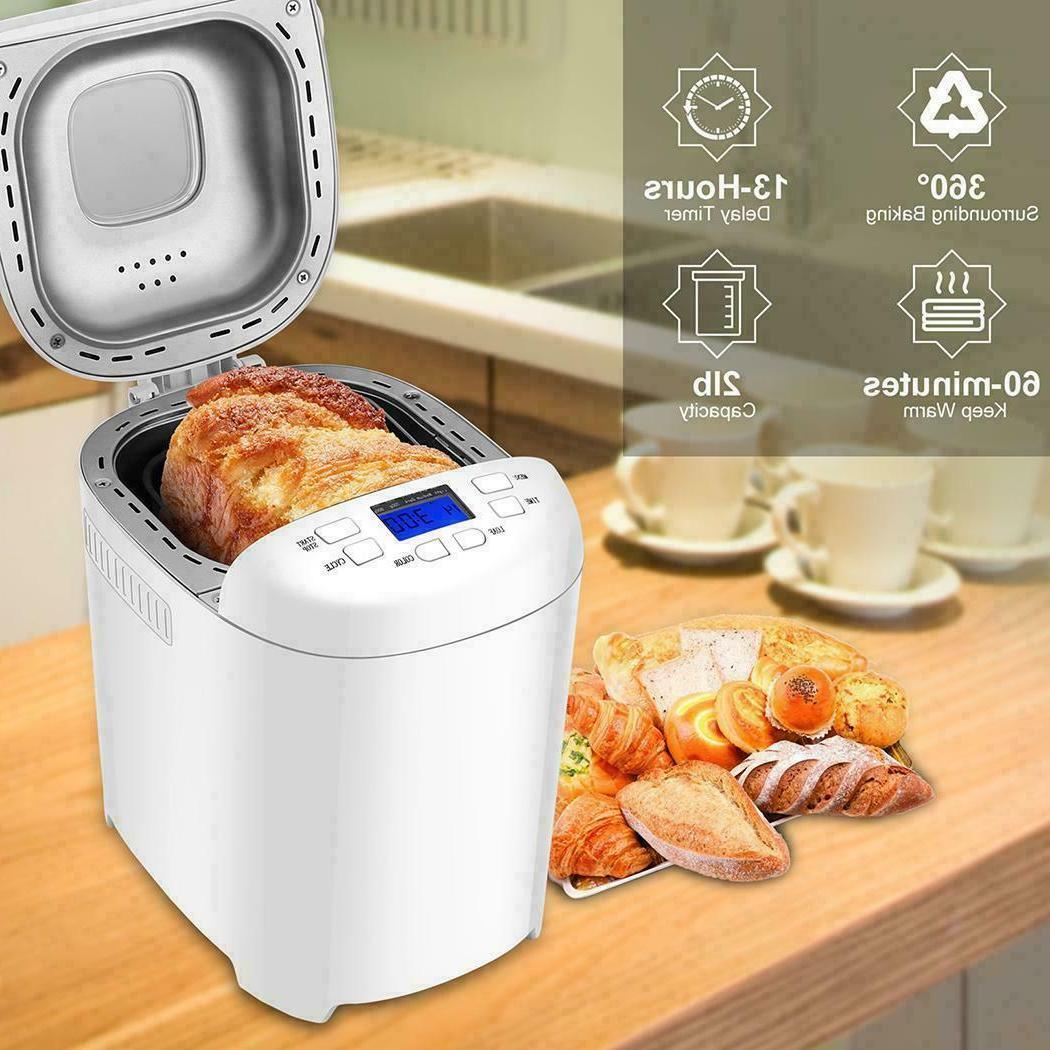 AOLIER Bread Machine 2LB 14-in-1 Bread Maker with Nonstick S