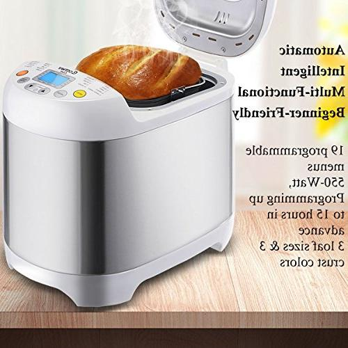 Bread Machine - Stainless Steel 2LB Programmable