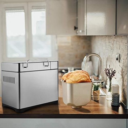 KBS Bread Automatic 2LB Convection with Nut Version Gluten Free, LCD Display Screen, Ceramic