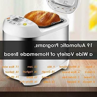 Bread Maker 19 Programmable Programs,