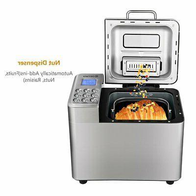 COSTWAY Bread Maker 15 Programmable Bread Machine with 15