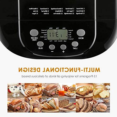 Bread Pound Bread with 15 Free Maker with Time, 1 Hour Warm, 3 3 Crust Steel