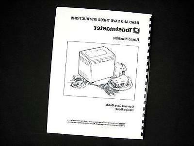 bread maker machine directions instruction manuals