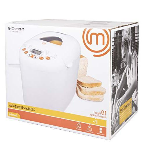 MasterChef Bread Programmable Machine w Settings Timer- FREE Recipe