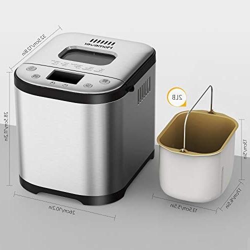 Homever Bread Maker - Automatic with Free Setting, Fully Stainless Bread Maker