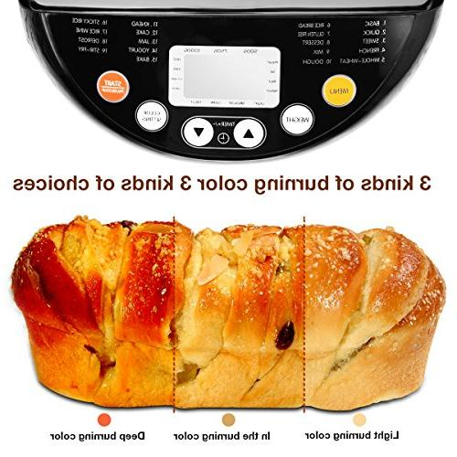 Breadmaker Programmable with Time and LCD