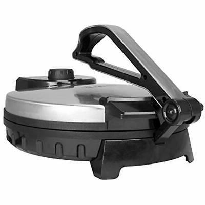 Brentwood Stainless Steel Non-Stick Electric Tortilla Maker, 12-Inch &amp