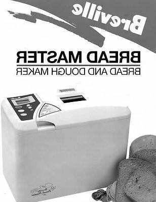 Breville Bread Machine Manual Bbm800xl Br1 Br2 Br3