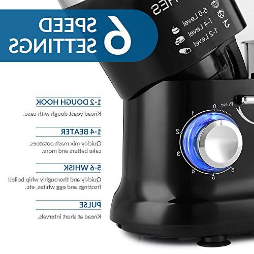 ALBOHES Stand Kitchen mixer Mixer Machine 600W with Dough Hook Speeds Stainless Steel Tilt-head Food Mixer Electric