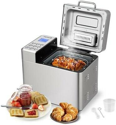 costway 2 lb automatic bread maker stainless