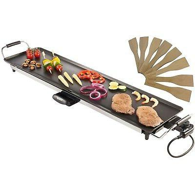electric xxl teppanyaki style barbecue table grill