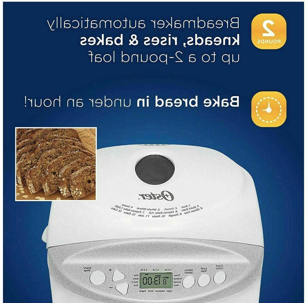 Oster Expressbake Bread 2 Loaf Free Setting Ships FREE