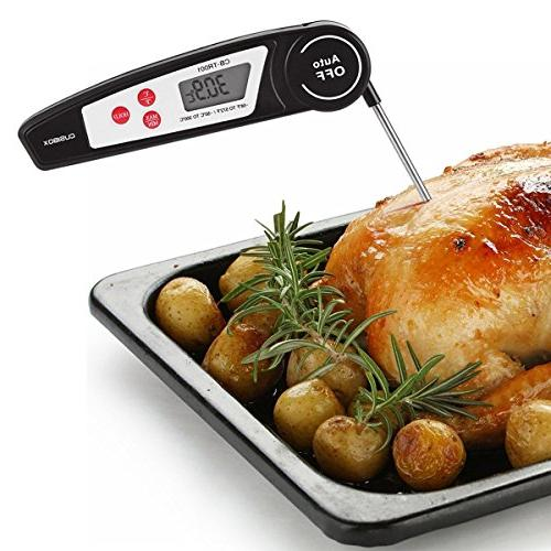 Instant for Kitchen, Candy, Water Digital BBQ Food Cooking Thermometer with Collapsible