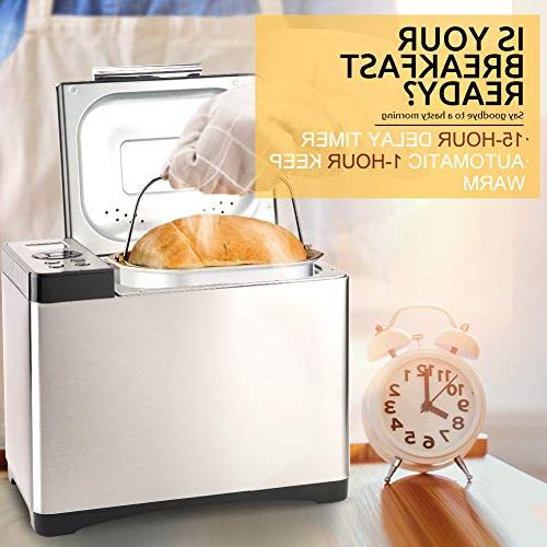 Secura Bread Maker, 2.2 Design Stainless Machine