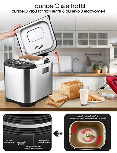 KBS MBF-004 2LB Bread Maker Friendly Versatility, 15 Colors, Durability, Stainless Steel