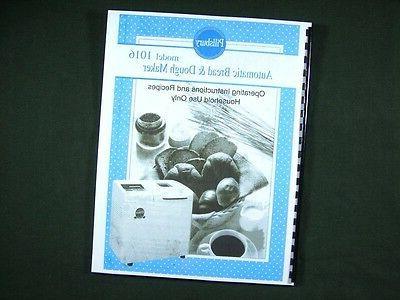model 1016 bread maker machine instruction manual