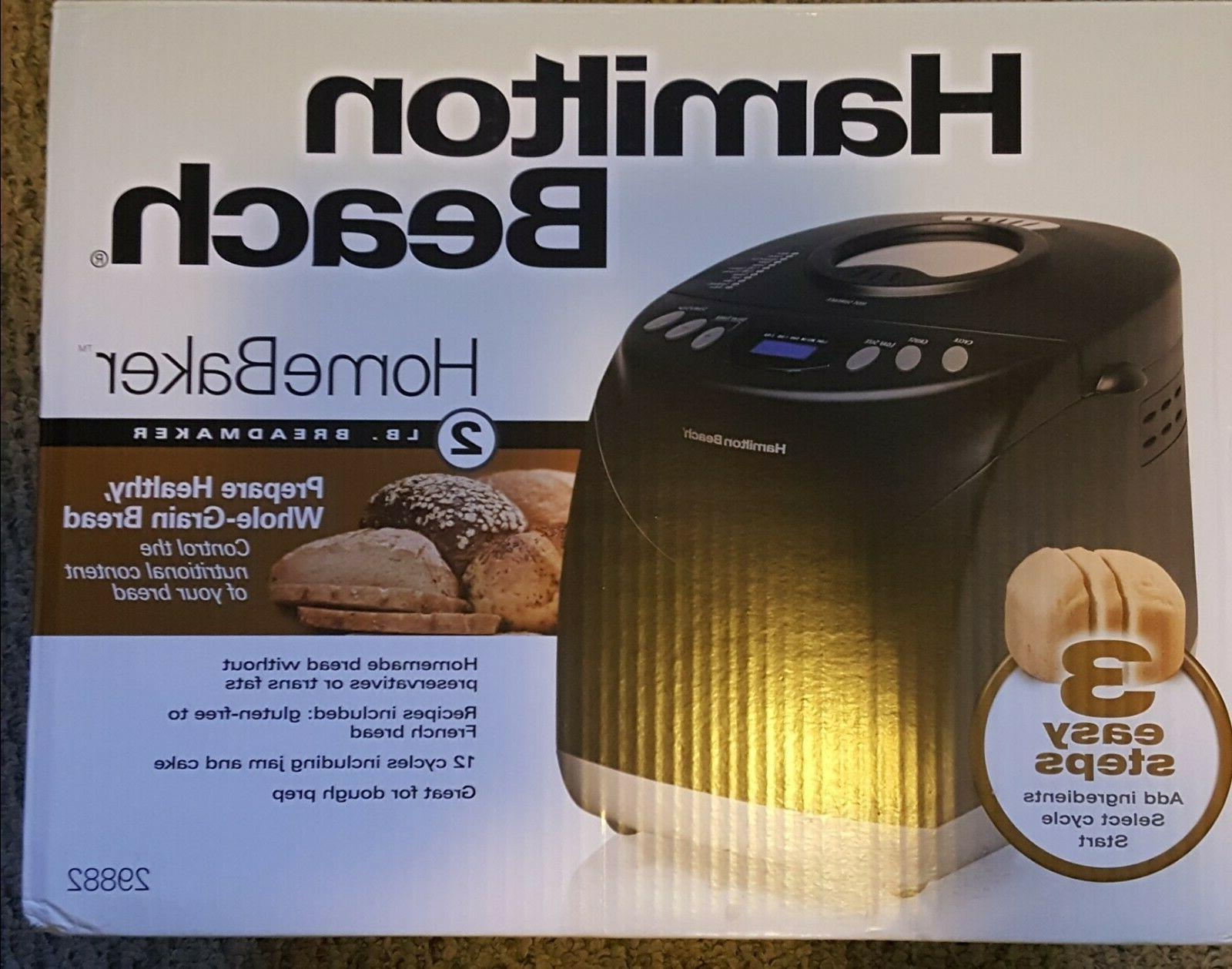 new 2lb homebaker model 29882 breadmaker