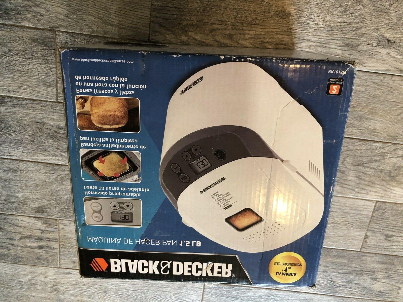 New Black Bread Maker 1.5 Bread BK1015W