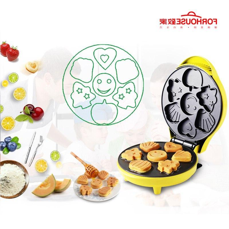 Maker Pancake <font><b>Machine</b></font> Portable Cute Cake Mold <font><b>Bread</b></font> Breakfast For Kids 220V