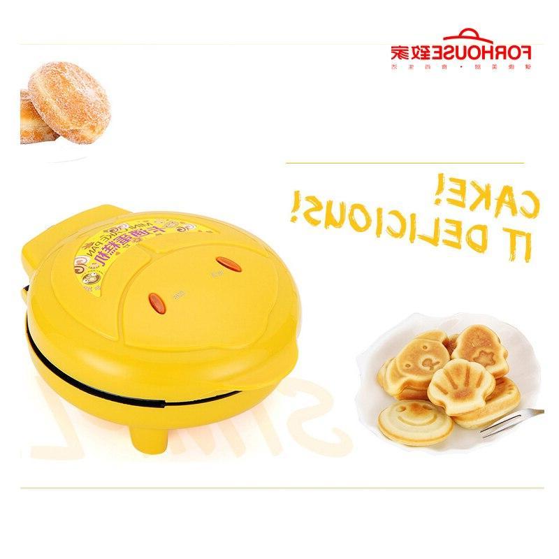 Non-stick Electric Maker Pancake Portable Cute <font><b>Bread</b></font> Baking Breakfast For