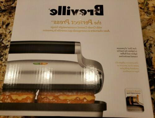 perfect panini press bsg600bss brand new
