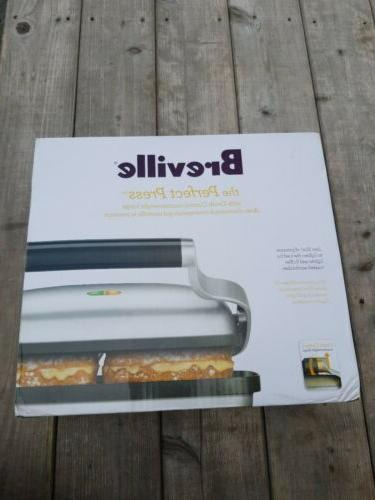 perfect press panini sandwich press bsg600bss new