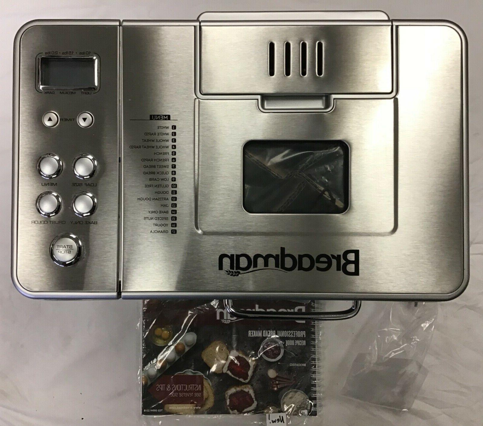 Breadman Bread Stainless NEW - NO BOX