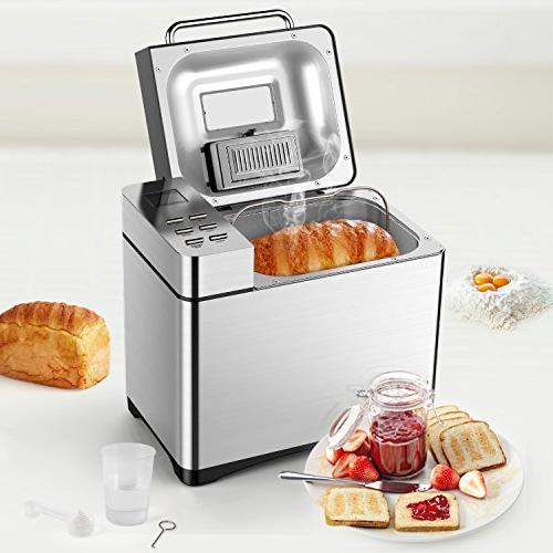 Automatic Bread Maker, Aicok 2.2LB Fully Bread Machine