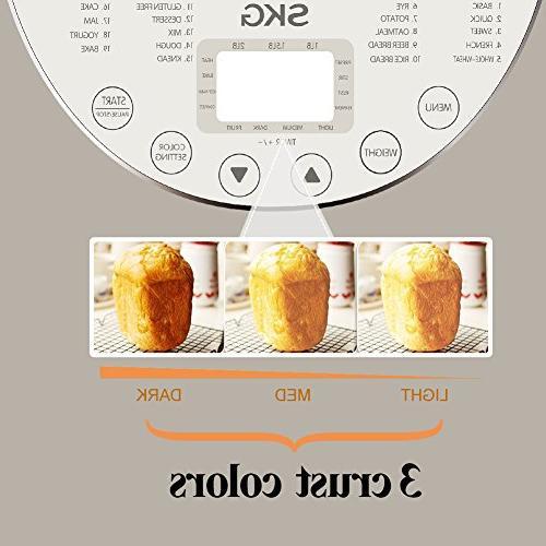 SKG Bread 2LB - Programmable Maker - Gluten Free Breadmaker