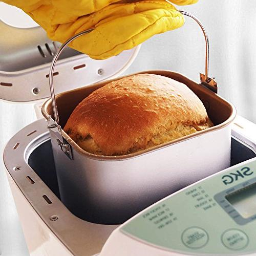 SKG Automatic 2LB - Beginner Programmable Gluten Whole Wheat Breadmaker