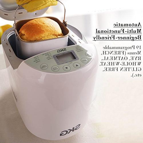 SKG Automatic Bread 2LB - Programmable Bread Gluten Free Breadmaker