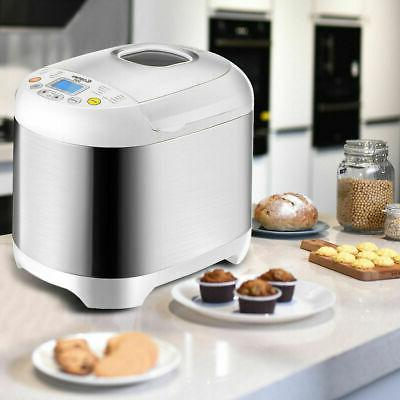 Stainless 2LB Electric Bread Maker Programmable