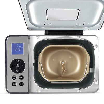 Stainless Steel 2LB 650W Electric Bread Programmable Home