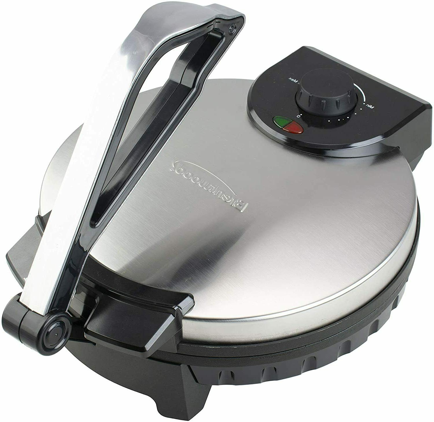 stainless steel non stick electric tortilla maker