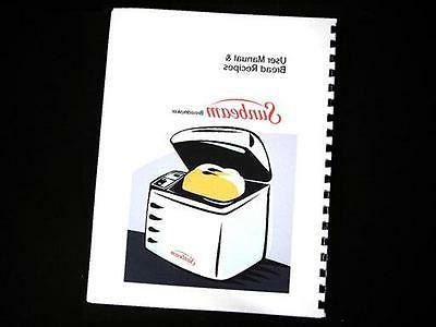 sunbeam bread maker machine directions instruction manuals