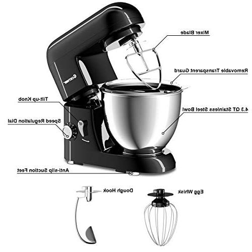 Costway Tilt-head 4.3Qt 6-Speed 120V/550W Electric Food w/Stainless Bowl