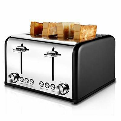 toaster 4 slice stainless steel toaster bagel