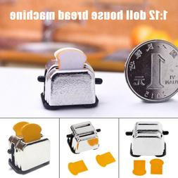 Miniature Toaster Bread Machine Kitchen Cookware For 1:12 Do