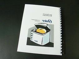 Oster Bread Maker Machine Instructions Manual & Recipes
