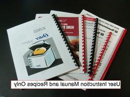 Panasonic Bread Maker Machine Directions w/ Recipes MANUAL O